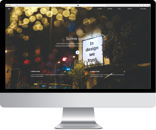MOCKUP BASIC WEBSITE DESKTOP