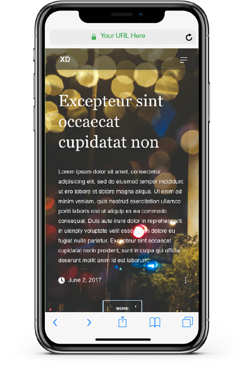 MOCKUP BASIC WEBSITE MOBILE